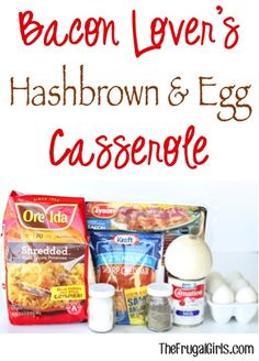 Bacon Egg and Hash Brown Casserole Recipe from TheFrugalGirls.com