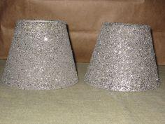 DIY LAMP SHADE! Modge podge +glitter+ lampshade= Glittery lamp ...