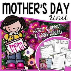 Browse mothers day crafts resources on Teachers Pay Teachers, a marketplace trusted by millions of teachers for original educational resources. Simile Poems, Kindergarten Poetry, Mother's Day Games, Mother's Day Colors, Mother's Day Printables, Mother's Day Activities, Books For Moms, I Love Mom, Reading Lessons