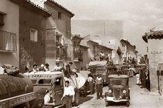 Spain - 1936. - GC -  Zona republicana - Zaragoza - Milicianos de la columna Durruti se dirigen hacia Zaragoza