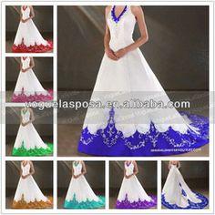 2. HALTER BLUE AND WHITE WED. DRESS Purple Wedding Gown, Blue Roses Wedding, Informal Wedding Dresses, Colored Wedding Dress, Cute Wedding Dress, Wedding Bridesmaid Dresses, White Wedding Dresses, Fantasy Gowns, Wedding Ideas