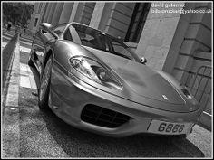 Sports Car Ferrari in Hong Kong streets