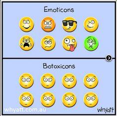 #emoticons #botoxicons #humor #skincare
