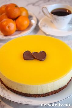 Klementinfromasjkake | Det søte liv Pudding Desserts, Nom Nom, Cheesecake, Easter, Baking, Snacks, Cakes, Food, Desserts
