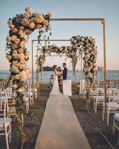 24 Beautiful Wedding Arch Ideas For Your Day Of Love - perfect wedding - Beach Beach Wedding Decorations, Wedding Themes, Wedding Styles, Outdoor Decorations, Best Wedding Ideas, Wedding Tips, Wedding Photos, Wedding Locations, Wedding Venues
