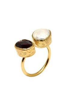 Hami Pearl & Purple Ring
