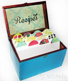 DIY recipe box w/ FREE printables.