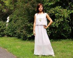 Elegant Sleeveless Maxi Dress With Chiffon Overlay m.OASAP.com