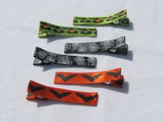 Halloween Simple Clip Set by VioletOrchidBoutique on Etsy, $3.00