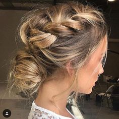 high neckline wedding hairstyle