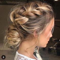 high neckline wedding hairstyle