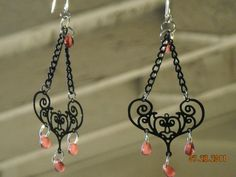 Bali style filigree chandelier earrings by BeadingByJenn on Etsy, $13.50