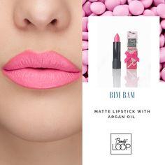 Matte nourishing long stay lipstick by beauty loop Long Stay Lipstick, Argan Oil, Matte Lipstick, Beauty, Beauty Illustration