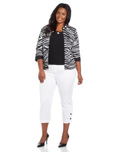 Dana Kay Women's Plus-Size 3 Piece Pant Shirt and Jacket Set, Black/White, 14 Dana Kay,http://www.amazon.com/dp/B00DX5WXSG/ref=cm_sw_r_pi_dp_ndPmtb17DCZ6AC5C
