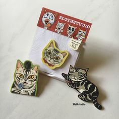 3 series of Demi brooch/magnet, only available at Cat Cafe Neko no Niwa. Have you get them all yet?  www.slothstudio.com www.facebook.com/Slothstudio