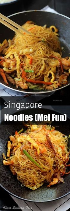 the 4 Cycle Solutions Japanese Diet - Singapore noodles Discover the Worlds First & Only Carb Cycling Diet That INSTANTLY Flips ON Your Bodys Fat-Burning Switch Asian Recipes, Healthy Recipes, Ethnic Recipes, Mexican Recipes, Healthy Rice, Singapore Food, Singapore Mei Fun Recipe, Asian Cooking, Chinese Food