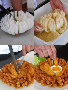 Outback Steakhouse Bloomin Onion Recipe @Taylor Smith this can easily be GF!! I really should try it...