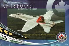 2007 CF-18 Air Demonstration Team Poster - 25 years of the Hornet