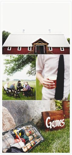 What a cute idea to have games at an outdoor wedding!