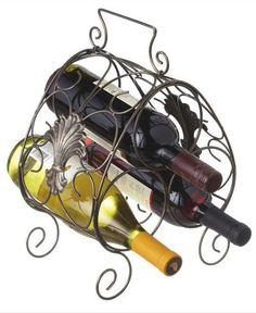 Rustic 3-Bottle Wine Holder/Rack