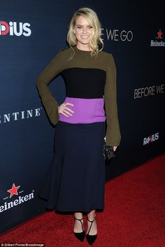 All about her! Alice Eve showed just why she's the center of attention as she attended the...