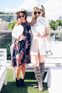 A gorgeous Parisian-style Beauty Bloggers brunch hosted by Nuxe at the Gale Hotel in South Beach, Florida. The decor would be perfect for a chic bridal shower or baby shower as well!