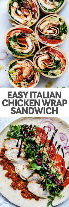 Italian Chicken Wrap foodiecrush ITALIAN CHICKEN WRAP You may see pinwheel wrap sandwiches so often at the store or the quick mart you dont even realize how easy they a. Healthy Appetizers, Appetizer Recipes, Healthy Recipes, Lunch Recipes, Tortilla Recipes, Italian Appetizers, Cold Appetizers, Sandwich Recipes, Dinner Recipes