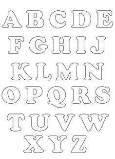 Moldes De Letras Del Alfabeto Para Imprimir Imagui Lletres