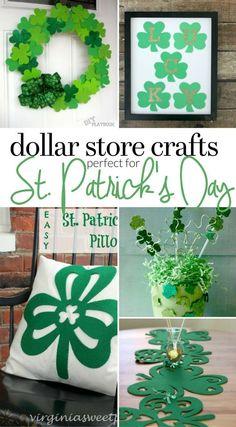 ba897c4ccd6 Dollar Store St. Patrick s Day Crafts - Shamrock Crafts - Last Minute St.  Patrick s