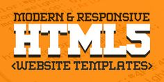 New Responsive HTML5 Website Templates #html5templates #html5websites #responsivetemplates #psdtemplates