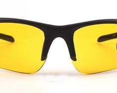 Nočné okuliare s čiernym rámikom v športovom dizajne