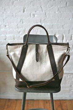 1940's era Feedsack Weekend Bag