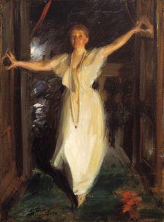 Anders Zorn: Isabella Stewart Gardner in Venice. 1894    Oil on canvas, 91 x 66 cm    Accession Number: P17e10    Isabella Stewart Gardner Museum, Boston