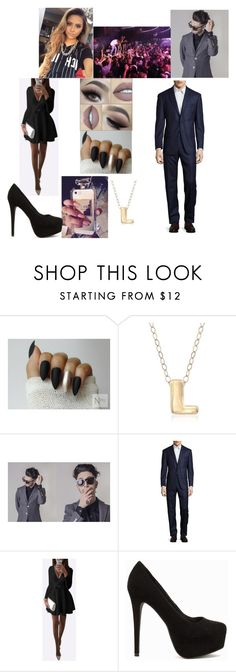"""""""High School💞Lana💞 & 💦Danny💦 at the Winter Ball"""" by gamergirl247 ❤ liked on Polyvore featuring Chanel, Ross-Simons, Michael Kors, South Beach and Nly Shoes"""