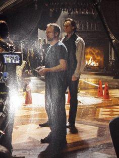 #TomHiddleston behind the scenes of Crimson Peak.
