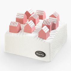 Nendo has created an ice cream cake, featuring a group of small chocolate houses resembling a village to remind people of returning home for Christmas.