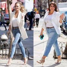 Plus Size Fashion For Women Pear Ideas Plus Size Outfits Curves Plus Size Fashion For Women Style Casual Day Outfits, Curvy Outfits, Fall Outfits, Fashion Outfits, White Blazer Outfits, Fashion Hacks, Fashion Advice, Fashion Blogger Style, Curvy Fashion
