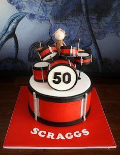 another cute cake Drum Birthday Cakes, Special Birthday Cakes, 50th Birthday, Music Themed Cakes, Music Cakes, Buttercream Cake, Fondant Cakes, Cupcake Cakes, Mini Tortillas