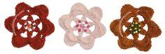 Flor con inclusión de cuentas o abalorios
