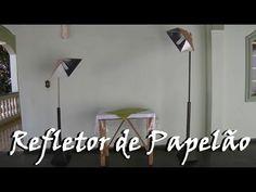 Refletor/Holofote caseiro - Totalmente de papelão