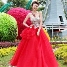 rouge robe de mariée 894