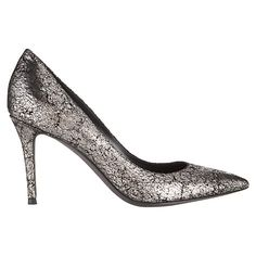 Buy Jigsaw Natalya Suede Court Shoes, Silver Online at johnlewis.com