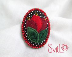 Red tulips. Spring flowers. Felt brooch. Easter gift. Gift for her. Gift for Mom. Bouquet of flowers. Hand embroidery. French knot. by SvitLoShop on Etsy https://www.etsy.com/listing/268124578/red-tulips-spring-flowers-felt-brooch