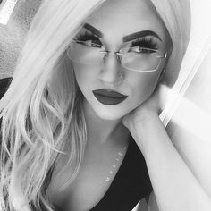 """""""Workin on mermaidz. Tryna look smart with mah glasses and pensive with my oh so casual pose.  tell me stories about your day ⠀  ps. I LOVE dark brows…"""""""