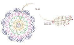 까꿍~^^오랜만에 코바늘 포스팅입니다^ 전에 티코스터를 올린적있었는데요티코스터도안에 이어 북마크 도안... Crochet Bookmark Pattern, Crochet Motif Patterns, Crochet Bookmarks, Crochet Chart, Filet Crochet, Crochet Leaves, Crochet Mandala, Crochet Flowers, Crochet Tools