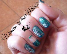 winter green nails