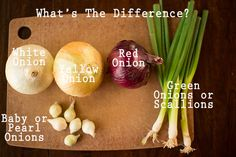 COOKING 101: WHAT'S THE DIFFERENCE BETWEEN ONIONS? - From A Sweet Pea Chef
