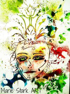 Masquerade by MarieStarkART on Etsy, $20.00