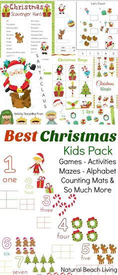 Best Christmas Activities Pack, I Spy, Christmas Memory Game, Bingo, Puzzles, Mazes, Colring Pages, Play dough Mats, Counting, Scavenger Hunt & much more.