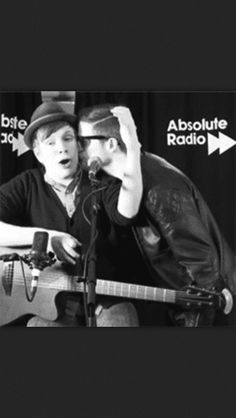 Patrick Stump and Andy Hurley (This is so adorable, I was in tears when I first saw it. :3)